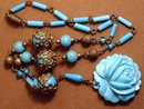 GORGEOUS Vintage CZECH GLASS necklace