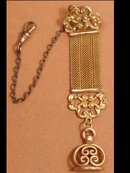 WIde MEsh Watch strap Chain fancy FOB SEAL
