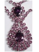 RUNWAY DIVA  RHINESTONE NECKLACE & ER BIG