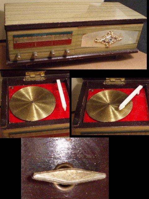 VINTAGE MINIATURE STEREO HI-FI phonograph MUSIC