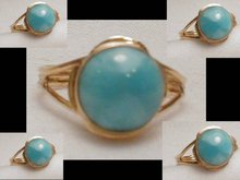 14KT GOLD Chalcedony Modernist Elegant Ring