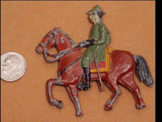Civil war ? MEtal soldier and horse