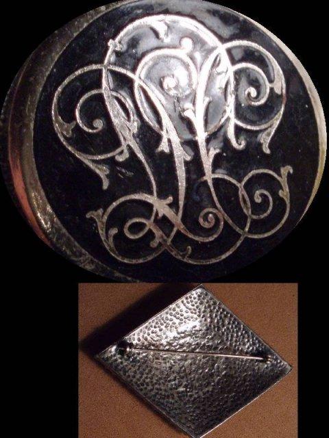 Large Enamel Fleur de LIS Victorian Sash pin
