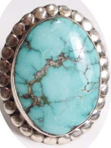 HUGE Sterling TURQUOISE RING