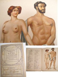 Cissarz ART nude German sex manual Lithograph
