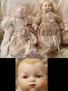 3 DOLLS SIGNED GRACE PUTNAM BISQUE