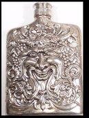 GOTHIC Tremendous BACCHUS  silver FLASK