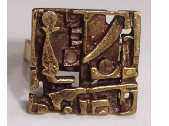 Bizarre DECO ARTS CRAFTS FUNKY OLD RING