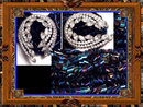 Vintage EXOTIC RAVEN Glass RHINESTONE necklace and brooch