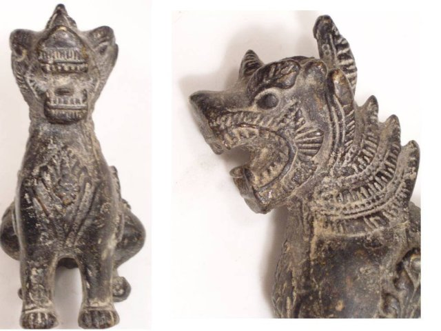 Antique PRIMITIVE DRAGON IDol of a Monument