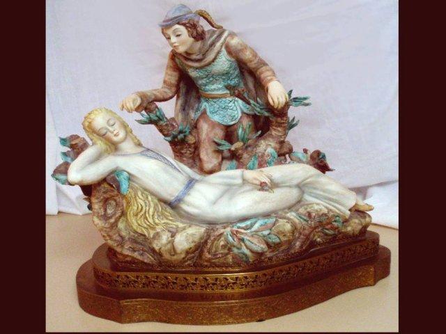 GERMAN ANTIQUE BISQUE Renaissance statue