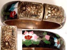 ANTIQUE ENAMEL DRAGON GOTHIC BRacelet