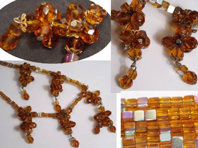 Vintage HAskellish CLUSTER GLASS necklace