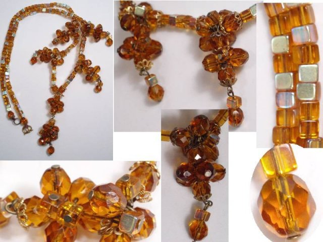 Vintage HAskellish CLUSTER GLASS necklace