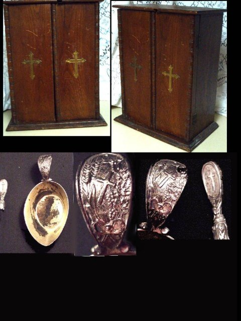 1897 SICK Call cabinet alter candelabra & MORE