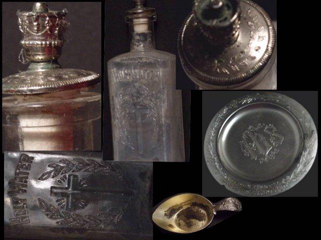 1897 SICK Call cabinet alter candelabra & MORE