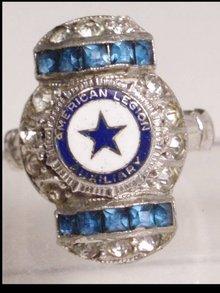 1920's ART DECO jeweled HISTORIC WW1 RING
