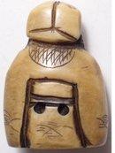 OLD Genuine IVORY NETSUKE man with beard signed