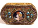 Antique French Figural enamel Sevres compact