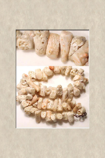 Bizarre CHUNKY Angelskin CORAL thick necklace