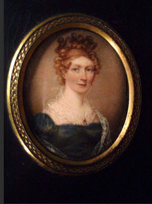 Known artist SIGNED 1822  PORTRAIT miniature Framed woman Royalty victorian woman Albin Roberts Burt