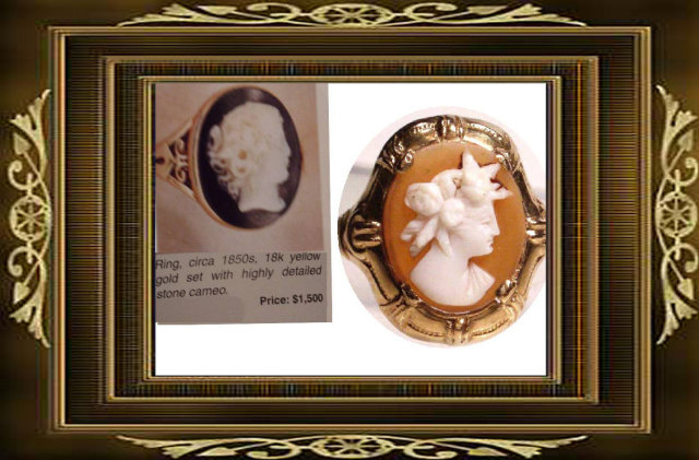 Neoclassical  GOLD 19th century Cameo ring