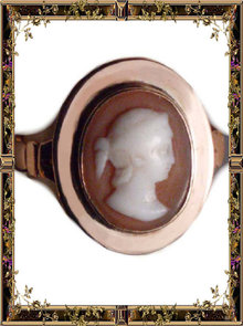 1800 Georgian ROSE GOLD Antique Cameo RING