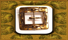 Fancy SIGNED ARTS and Crafts SASH BUCKLE