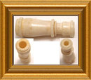 OLD Victorian Ivory Bone Stanhope MONOCULAR RARE with book reference