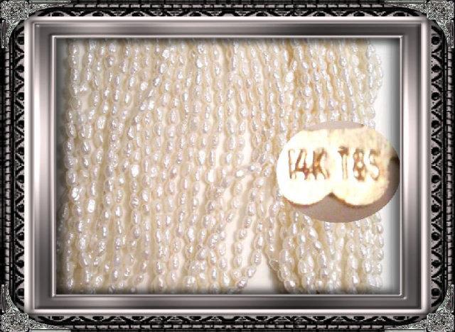 Vintage 10 STRAND opera length 14kt gold pearls