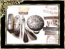1894 VIctorian STERLING Hallmarked Vanity SET