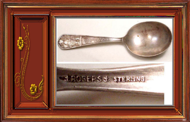 ANtique STerling ROGERS Mary little Lamb spoon