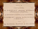 Rare OUT OF PRINT 1779 Essay Treatises HUME