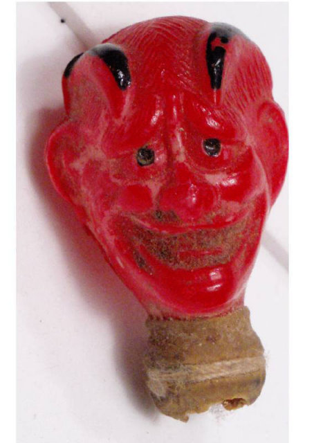 Early vintage DEVIL head with teeth Candy Container