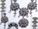 GRAND Vintage VIctorian Necklace with  bookchain Paste brilliants Girandole drops