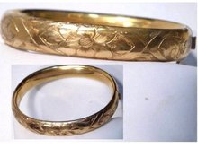 Victorian Gold filled fancy bangle bracelet