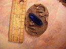 Antique CHINESE DRAGON GLASS Sash PIN