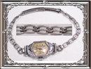 Fancy Enamel ART DECO Vintage Watch & band