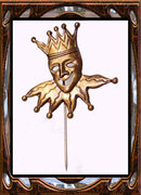 Vintage JESTER enamel  masquerade stickpin