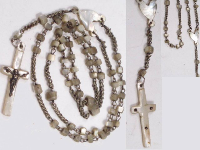 Victorian Mother Pearl Antique Child's Rosary