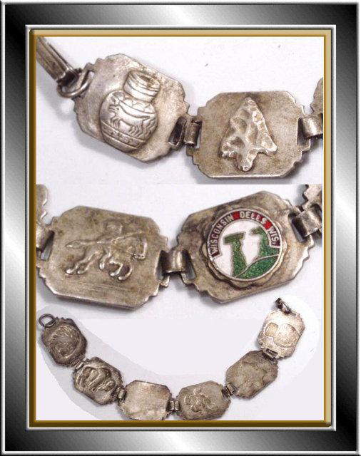 Vintage INDIAN Figural Enamel OLD Bracelet