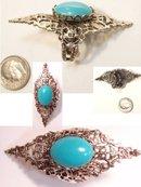HUGE vintage Gothic Renaissance cabachon ring