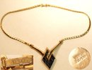 Fabulous SIGNED Trifari snake jewel necklacee