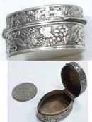 ANtique Silver CHERUB Miniature patch Snuff box