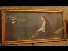 LARGE Carved Deco Frame Jesus on the Mount