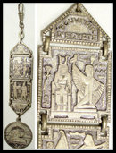 VIntage Grand tour Fob  Egyptian Revival enamel watch fob