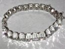 VIntage BRILLIANT DECO 20's hinged bracelet