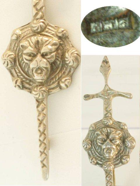 Victorian sterling hallmark LION SIGNED brooch