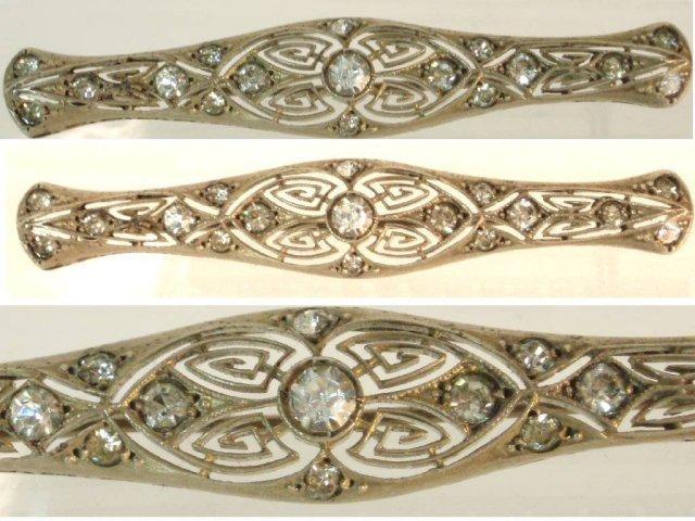 DECO vintage sterling bookpiece jewel brooch