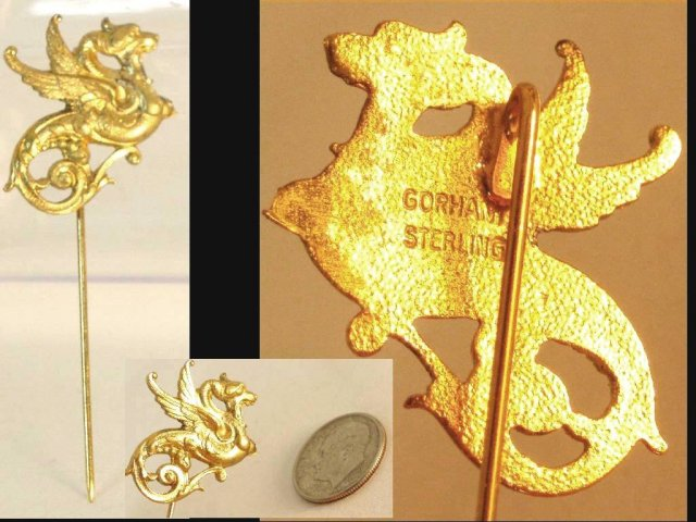 Mythical GORHAM DRAGON SIGNED Stickpin